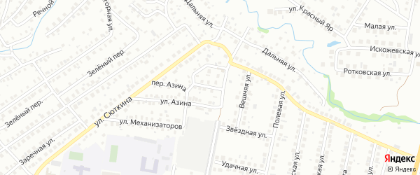 Весенний переулок на карте Нефтекамска с номерами домов