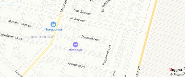 Лунный переулок на карте Нефтекамска с номерами домов