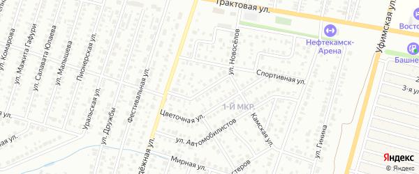 Улица Новоселов на карте Нефтекамска с номерами домов