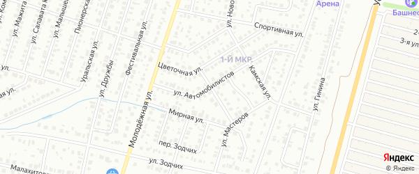 Апрельская улица на карте Нефтекамска с номерами домов