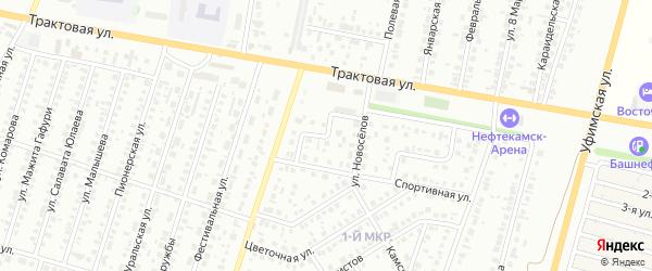 Переулок Новоселов на карте Нефтекамска с номерами домов