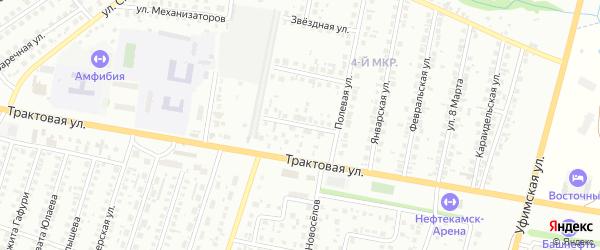 Калтасинская улица на карте Нефтекамска с номерами домов