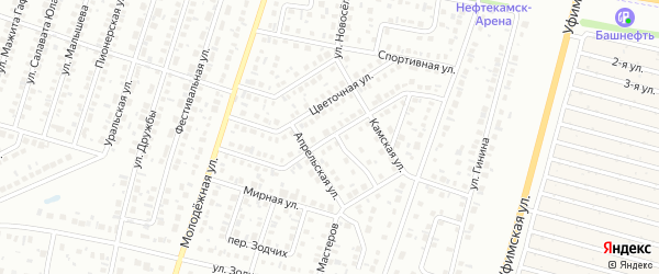 Улица Автомобилистов на карте Нефтекамска с номерами домов