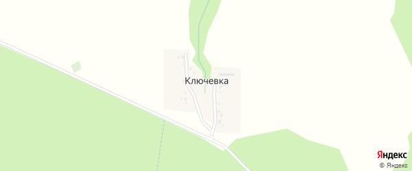 Центральная улица на карте деревни Ключевки с номерами домов