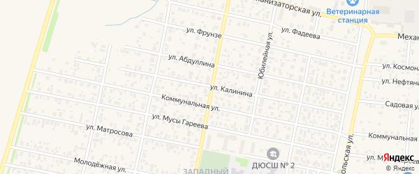 Улица Калинина на карте села Верхнеяркеево с номерами домов