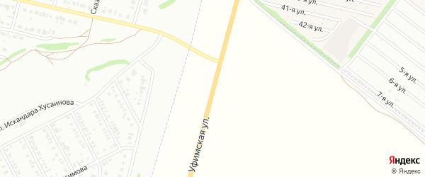 Уфимская улица на карте Нефтекамска с номерами домов