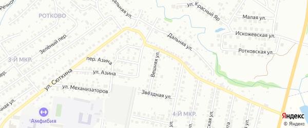 Вешняя улица на карте Нефтекамска с номерами домов