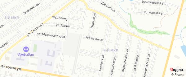 Звездная улица на карте Нефтекамска с номерами домов