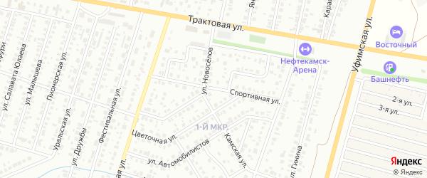 Спортивная улица на карте Нефтекамска с номерами домов