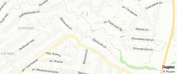 Дальняя улица на карте Нефтекамска с номерами домов