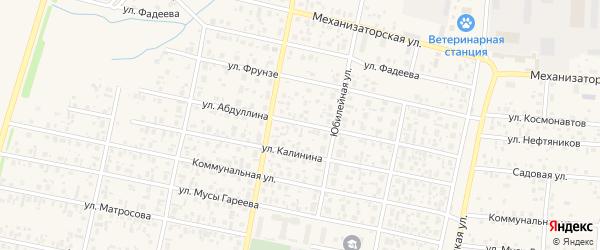 Улица Абдуллина на карте села Верхнеяркеево с номерами домов