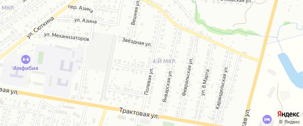 Полевая улица на карте Нефтекамска с номерами домов