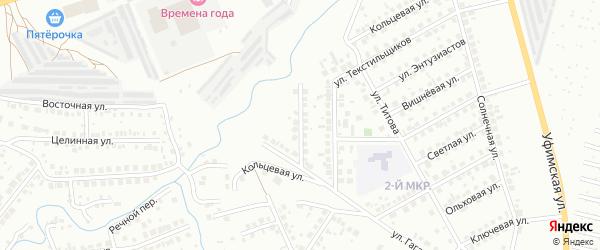 Малиновый переулок на карте Нефтекамска с номерами домов