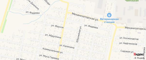 Улица Фрунзе на карте села Верхнеяркеево с номерами домов