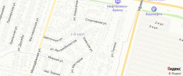 Раздольный переулок на карте Нефтекамска с номерами домов