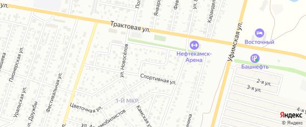Спортивный переулок на карте Нефтекамска с номерами домов