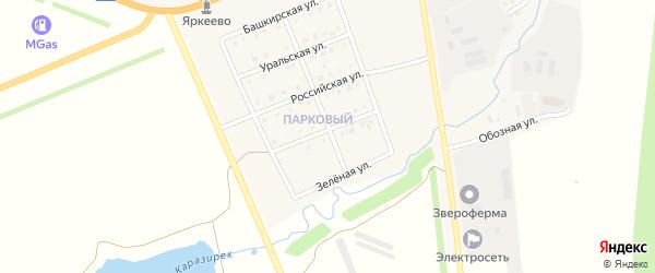 Радужная улица на карте села Верхнеяркеево с номерами домов