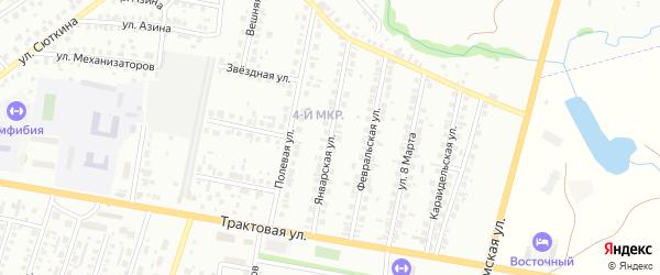 Январская улица на карте Нефтекамска с номерами домов