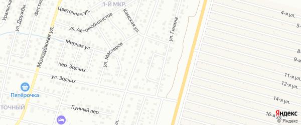 Переулок Машиностроителей на карте Нефтекамска с номерами домов