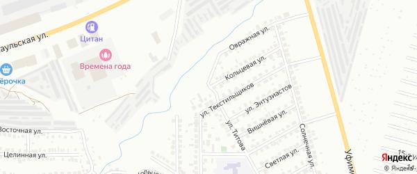 Кольцевая улица на карте Нефтекамска с номерами домов