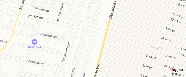Улица Гинина на карте Нефтекамска с номерами домов
