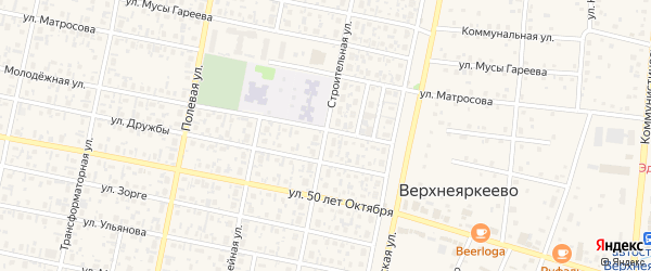 Строительная улица на карте села Верхнеяркеево с номерами домов