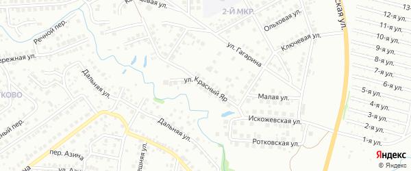 Улица Красный яр на карте Нефтекамска с номерами домов