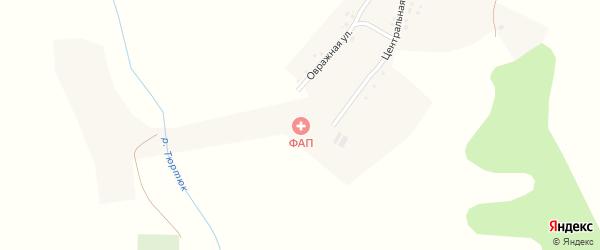 Овражная улица на карте села Верхней Курмазы с номерами домов