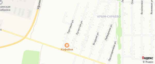 Лучистая улица на карте Нефтекамска с номерами домов