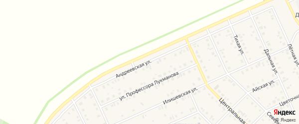 Андреевская улица на карте села Нижнеяркеево с номерами домов