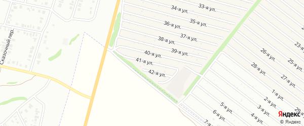 41-я улица на карте СНТ Радуга-1 с номерами домов