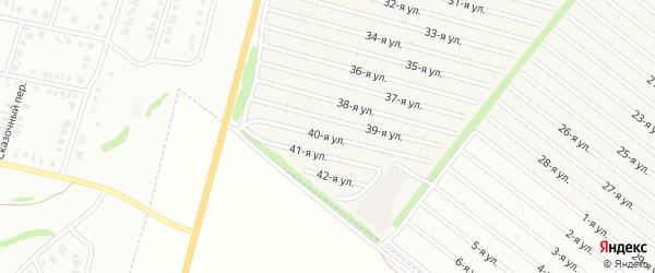 40-я улица на карте СНТ Радуга-1 с номерами домов