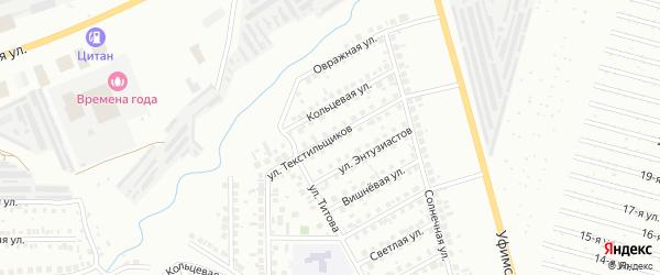 Улица Текстильщиков на карте Нефтекамска с номерами домов