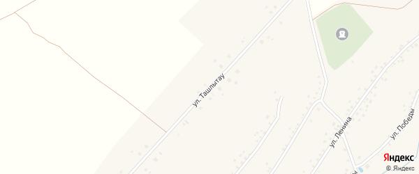 Улица Ташлытау на карте села Нового Актанышбаша с номерами домов