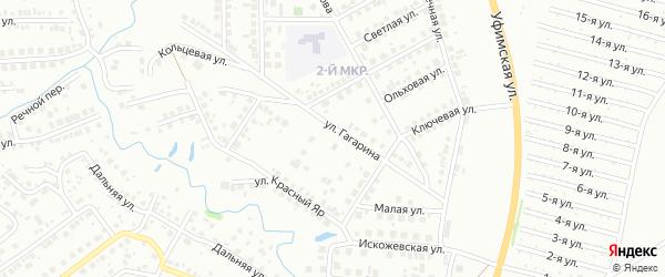 Улица Гагарина на карте Нефтекамска с номерами домов