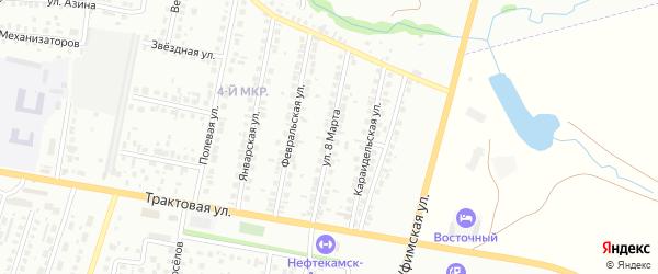 8-я улица на карте садового товарищества СПК Радуги 2 с номерами домов