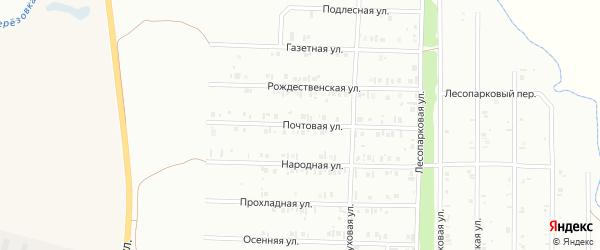Почтовая улица на карте Нефтекамска с номерами домов