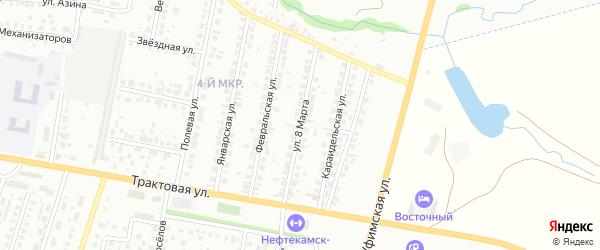 8-я улица на карте СНТ Восхода НГДУ с номерами домов