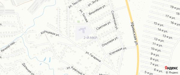 2-я улица на карте СНТ Родничка с номерами домов