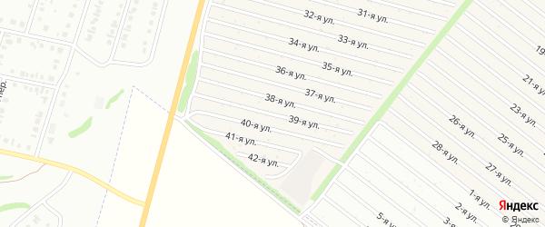 39-я улица на карте СНТ Радуга-1 с номерами домов