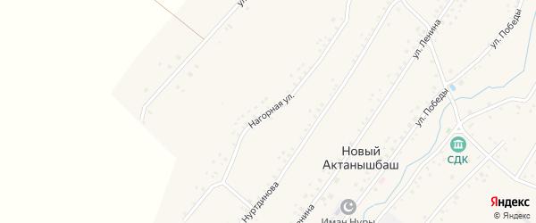 Нагорная улица на карте села Нового Актанышбаша с номерами домов