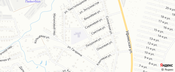 Улица Титова на карте Нефтекамска с номерами домов