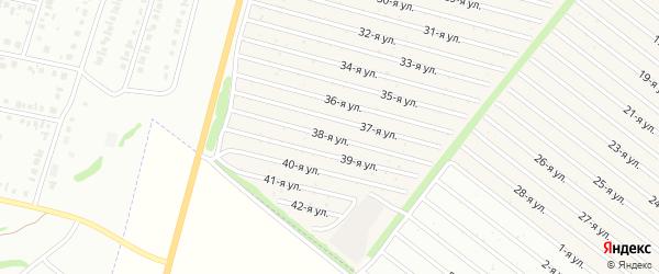 38-я улица на карте СНТ Радуга-1 с номерами домов