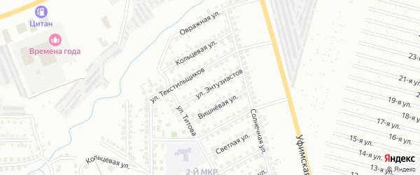 Улица Энтузиастов на карте Нефтекамска с номерами домов