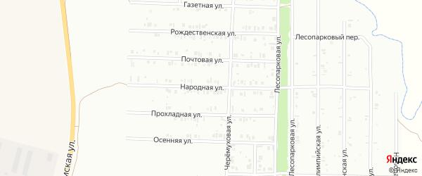 Народная улица на карте Нефтекамска с номерами домов
