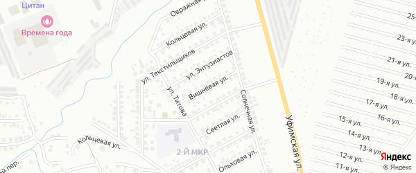 Вишневая улица на карте Нефтекамска с номерами домов