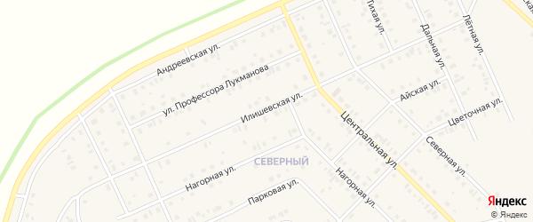 Илишевская улица на карте села Нижнеяркеево с номерами домов