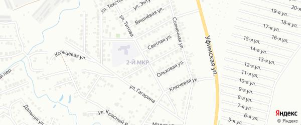 Лазурная улица на карте Нефтекамска с номерами домов