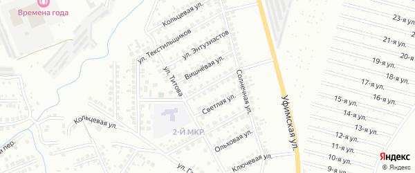 Сиреневая улица на карте Нефтекамска с номерами домов
