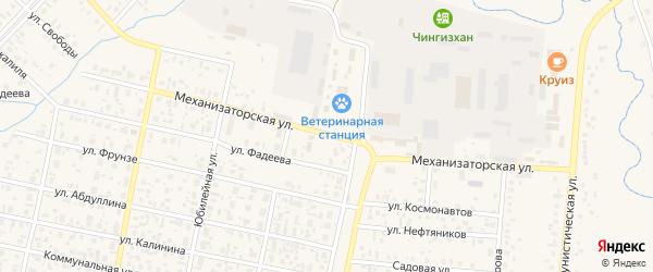 Механизаторская улица на карте села Верхнеяркеево с номерами домов
